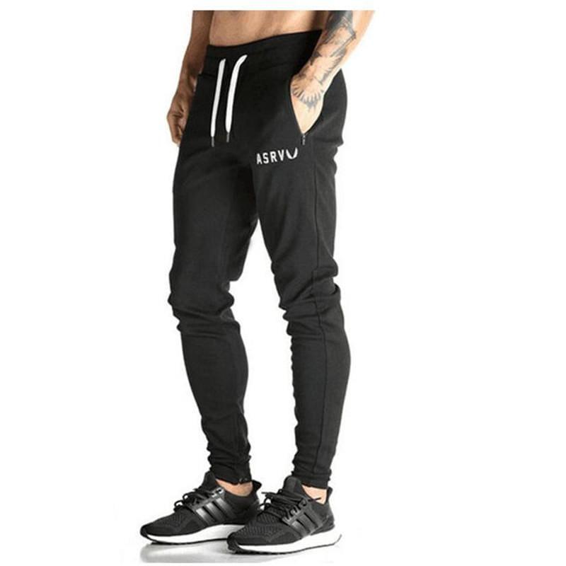 Men Casual Sweatpants Workout Sportswear Jogger - Black / M - Cross Pants