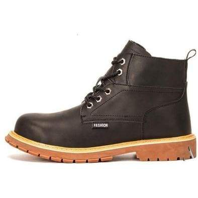 Mens Casual Boots Winter Work Safety Boots shoes - Black / 37 - Winter Boots