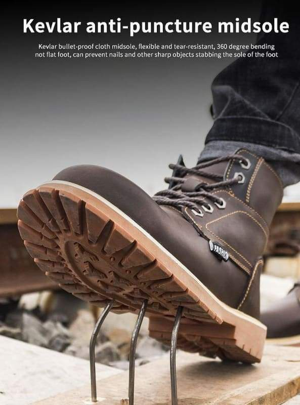 Mens Casual Boots Winter Work Safety Boots shoes - Winter Boots