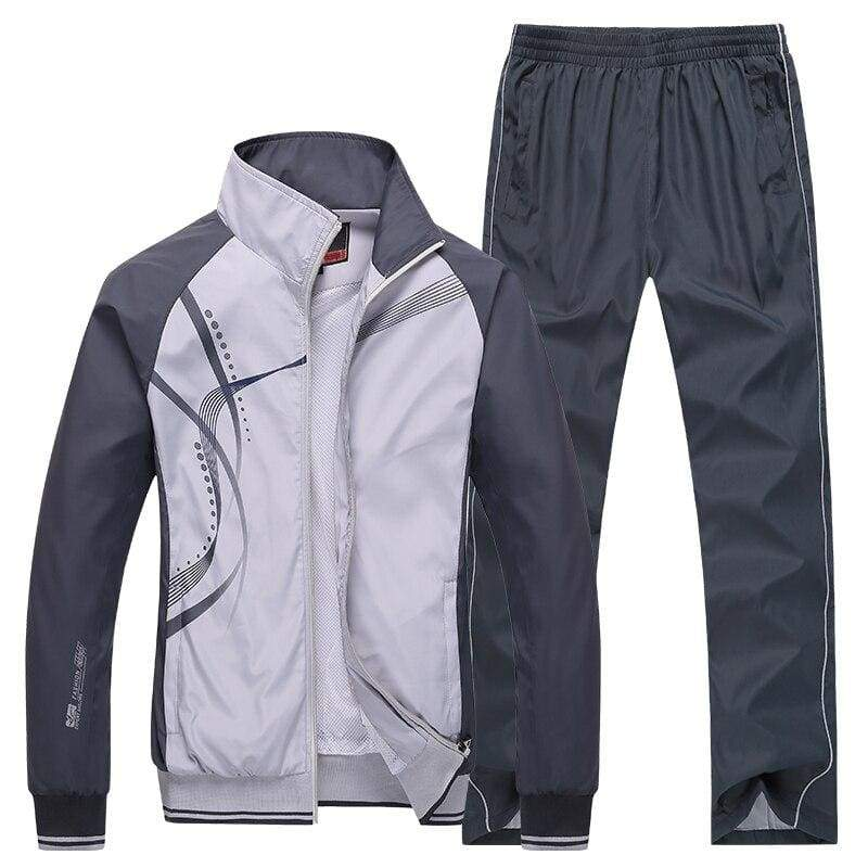 Men Sportswear Spring Autumn - Grey / L - Sportswear