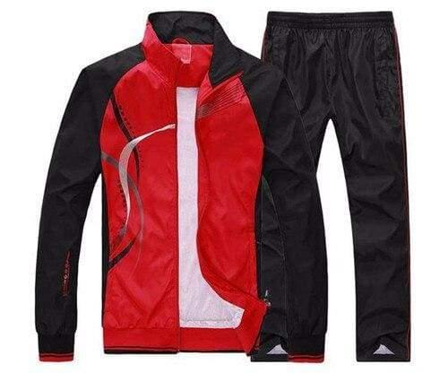 Men Sportswear Spring Autumn - red / L - Sportswear