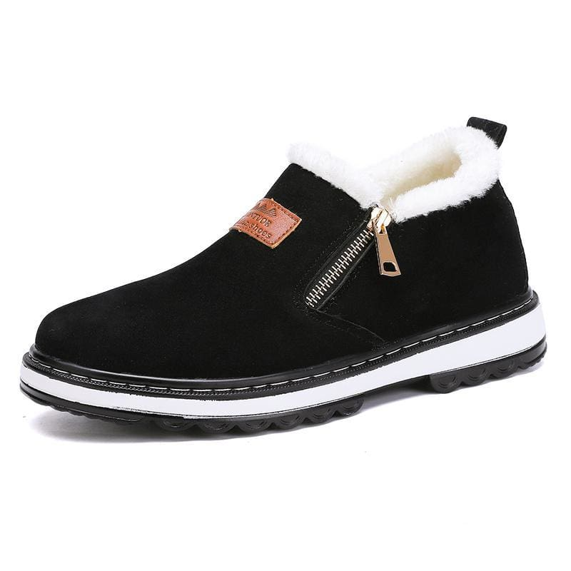 Mens warm plush boots - Black / 12 - Snow Boots