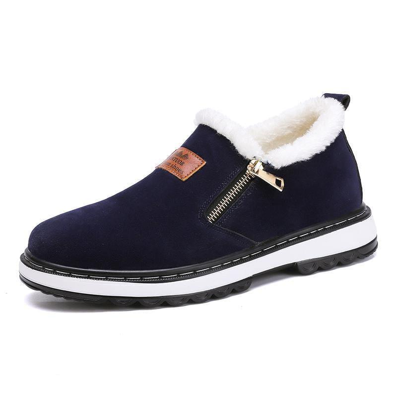 Mens warm plush boots - Blue / 7 - Snow Boots