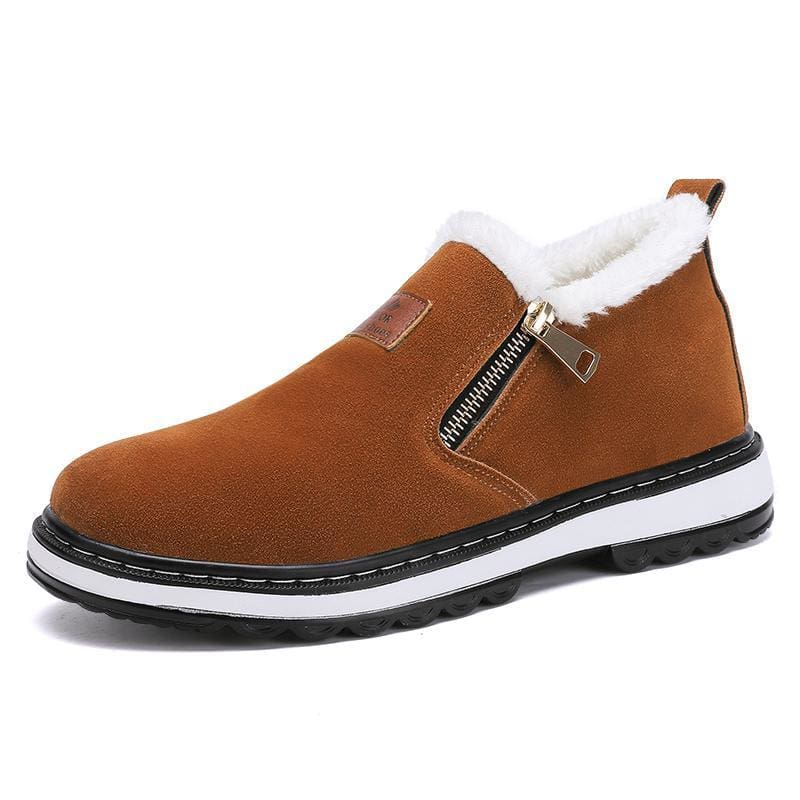 Mens warm plush boots - brown / 12 - Snow Boots