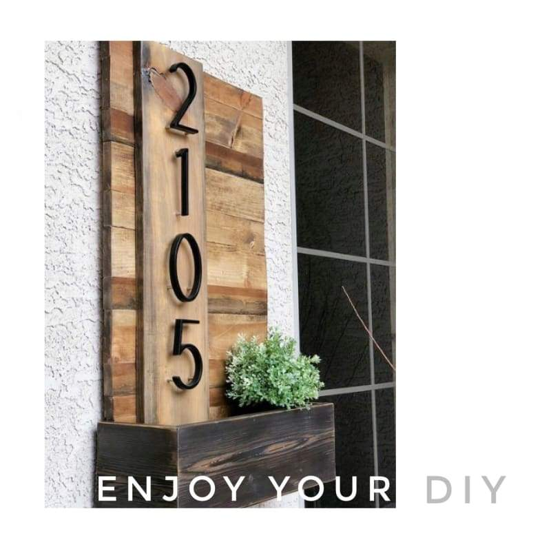 Modern House Number Just For You - Door Plates