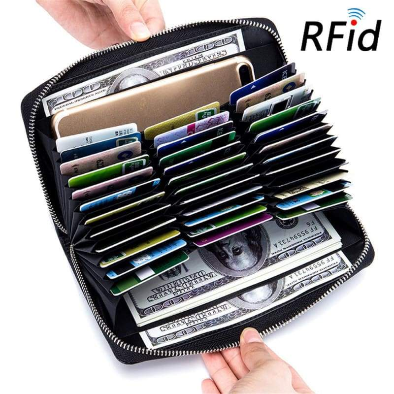 Multi Card Holder Wallet - Black - Card & ID Holders