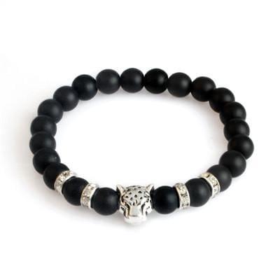 Natural Stone Leopard Bracelet For Men - B020096 2 - Strand Bracelets