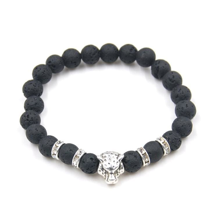 Natural Stone Leopard Bracelet For Men - B020097 2 - Strand Bracelets