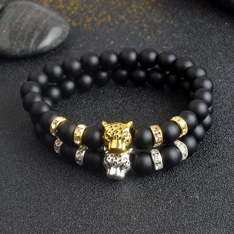 Natural Stone Leopard Bracelet For Men - Strand Bracelets