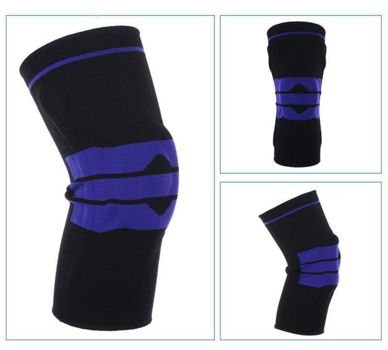 Nylon Silicon Knee Sleeve - Black / L - Elbow & Knee Pads