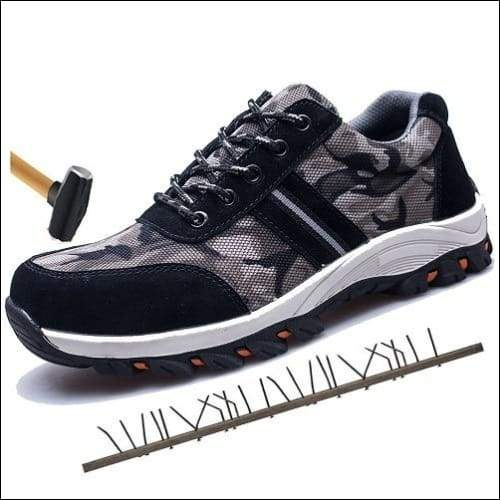 Outdoor Construction Shoes - Camouflage Black / 4.5 - shoes