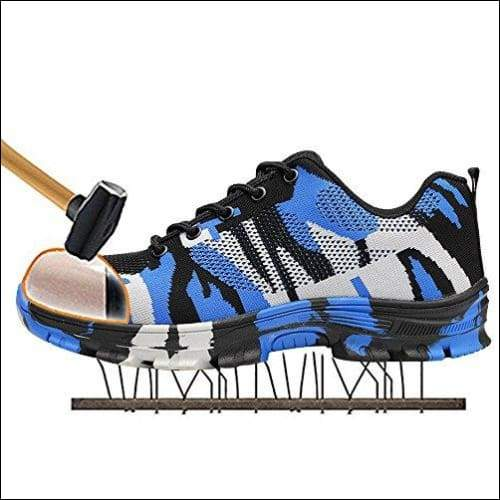 Outdoor Construction Shoes - Camouflage Blue / 4.5 - shoes