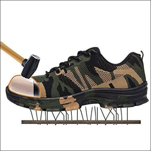 Outdoor Construction Shoes - Camouflage Green / 4.5 - shoes