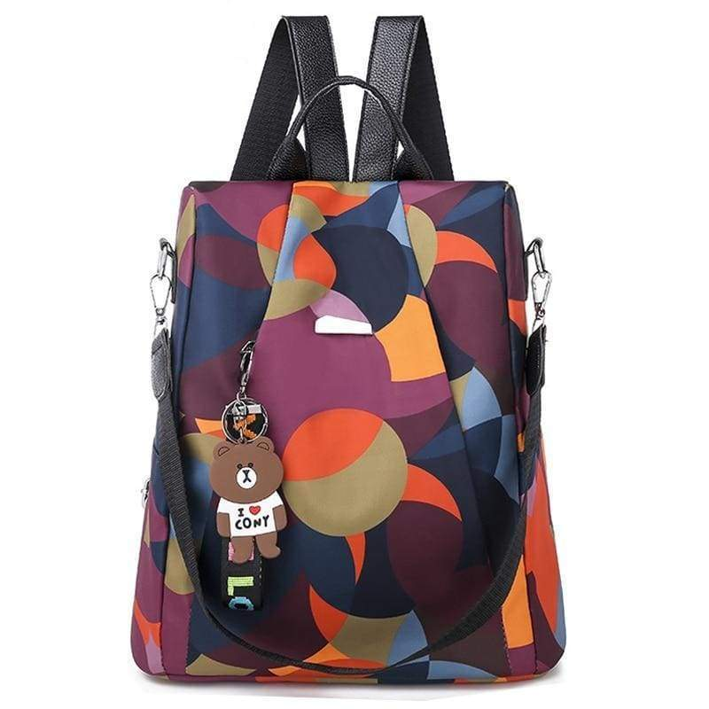 Oxford Anti-Thief Backpack - COLORFUL - Backpacks