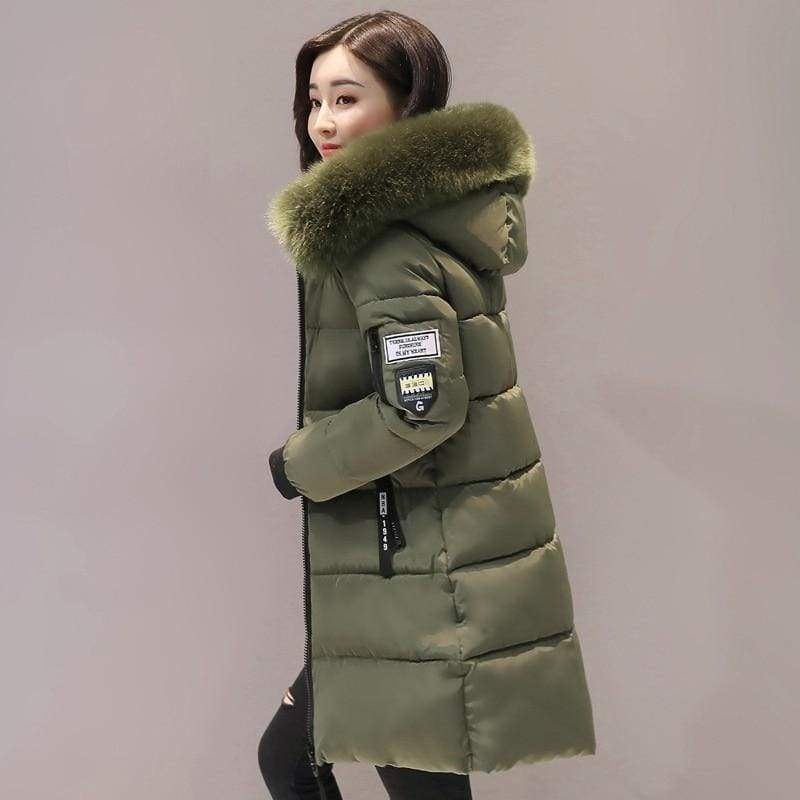 Parka Winter Coats Women Just For You - Army Green / XS - Women Coat