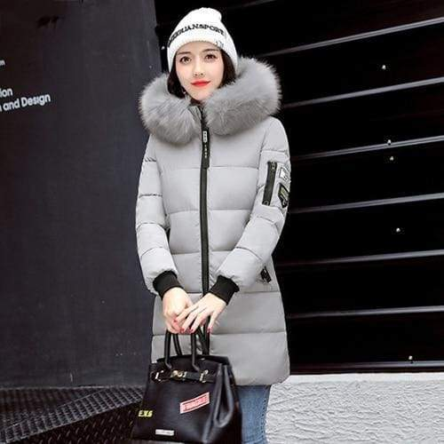 Parka Winter Coats Women Just For You - Gray / XS - Women Coat
