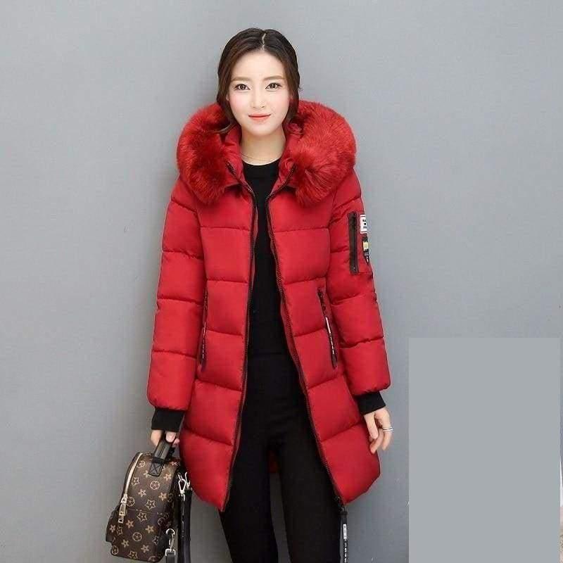 Parka Winter Coats Women Just For You - Red / XS - Women Coat