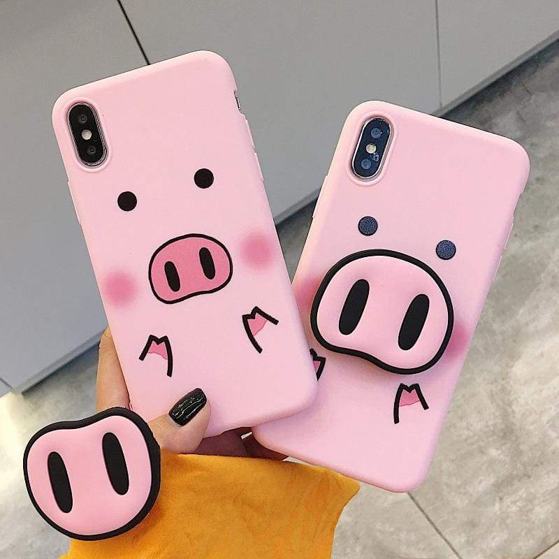 Pig case for iPhone with holder - Fitted Cases