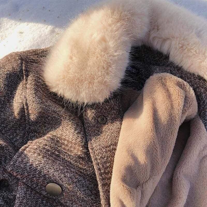 Plaid Cardigan Coat Women Just For You - Black / S - Women Coat