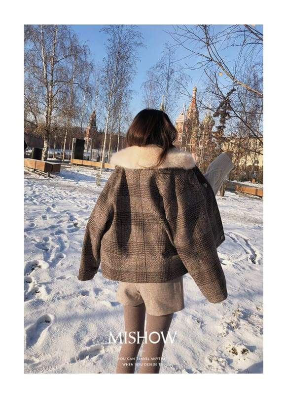 Plaid Cardigan Coat Women Just For You - Women Coat