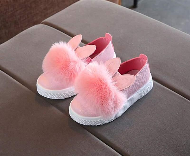 PomPom Bunny Sneaker - B / 13.5 - Sneakers