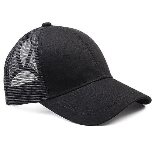 Ponytail Baseball Cap - black - Baseball Caps