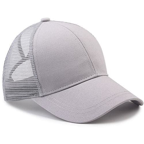 Ponytail Baseball Cap - grey - Baseball Caps