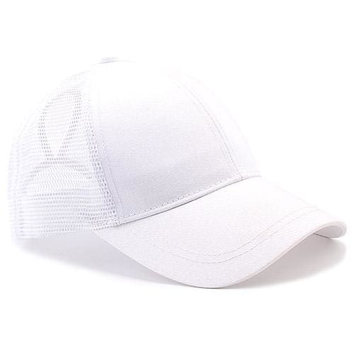 Ponytail Baseball Cap - white - Baseball Caps