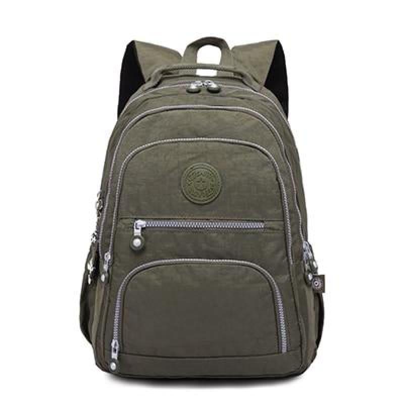 School Backpack for Teenage - army green / 27CMX13CMX37CM 1368 - Backpacks