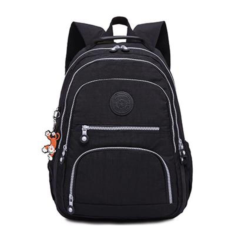 School Backpack for Teenage - black / 27CMX13CMX37CM 1368 - Backpacks