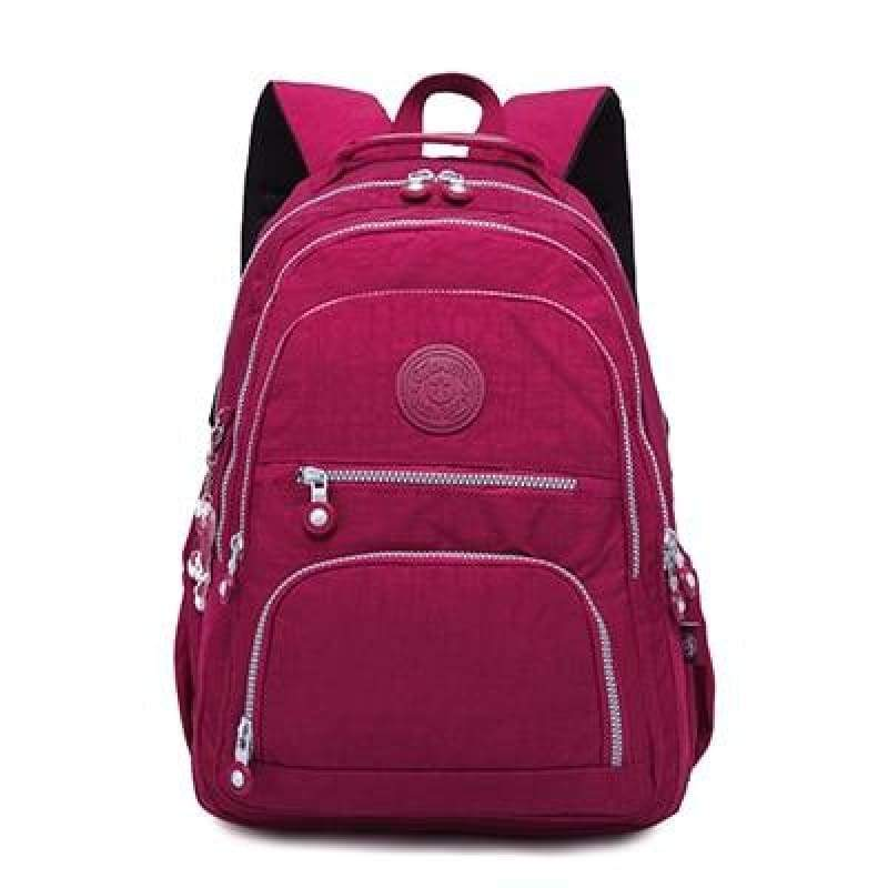 School Backpack for Teenage - bordeaux / 27CMX13CMX37CM 1368 - Backpacks