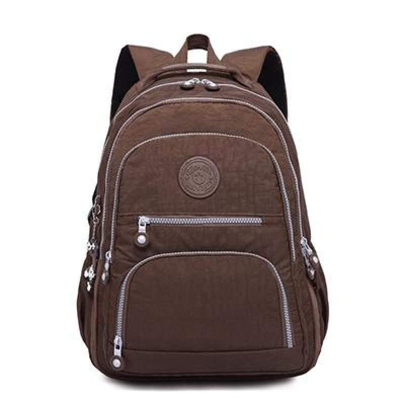 School Backpack for Teenage - coffee / 27CMX13CMX37CM 1368 - Backpacks