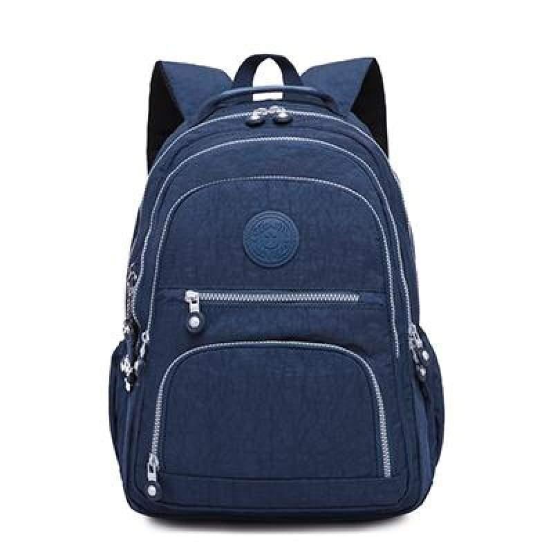 School Backpack for Teenage - dark blue / 27CMX13CMX37CM 1368 - Backpacks