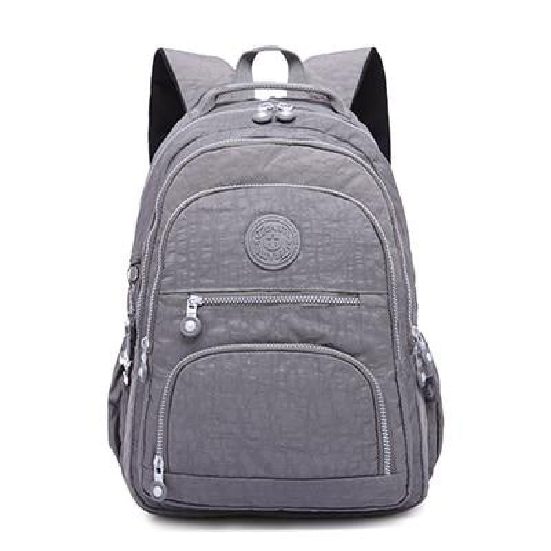 School Backpack for Teenage - gray / 27CMX13CMX37CM 1368 - Backpacks