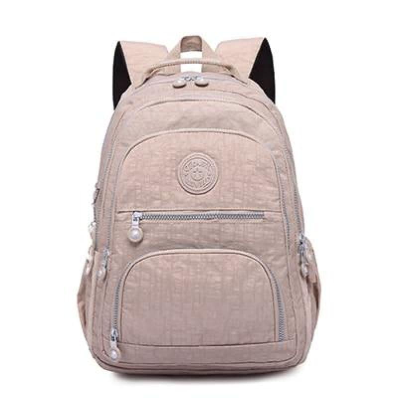 School Backpack for Teenage - khaki / 27CMX13CMX37CM 1368 - Backpacks