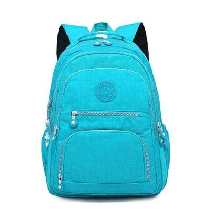 School Backpack for Teenage - light blue / 27CMX13CMX37CM 1368 - Backpacks