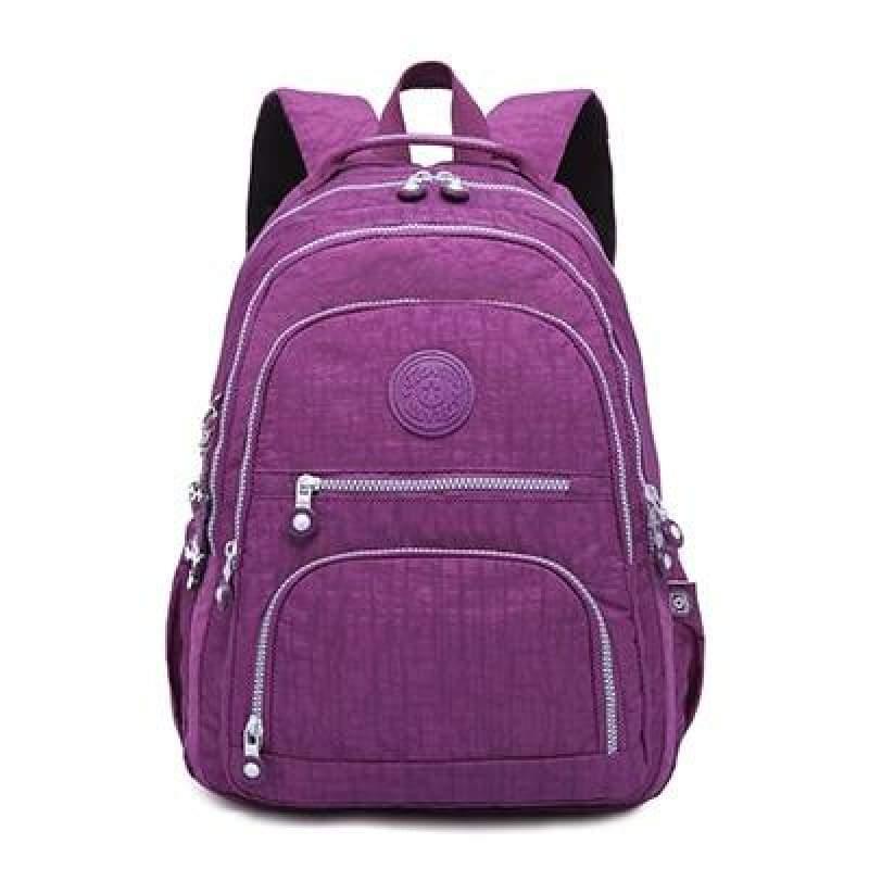 School Backpack for Teenage - purple / 27CMX13CMX37CM 1368 - Backpacks