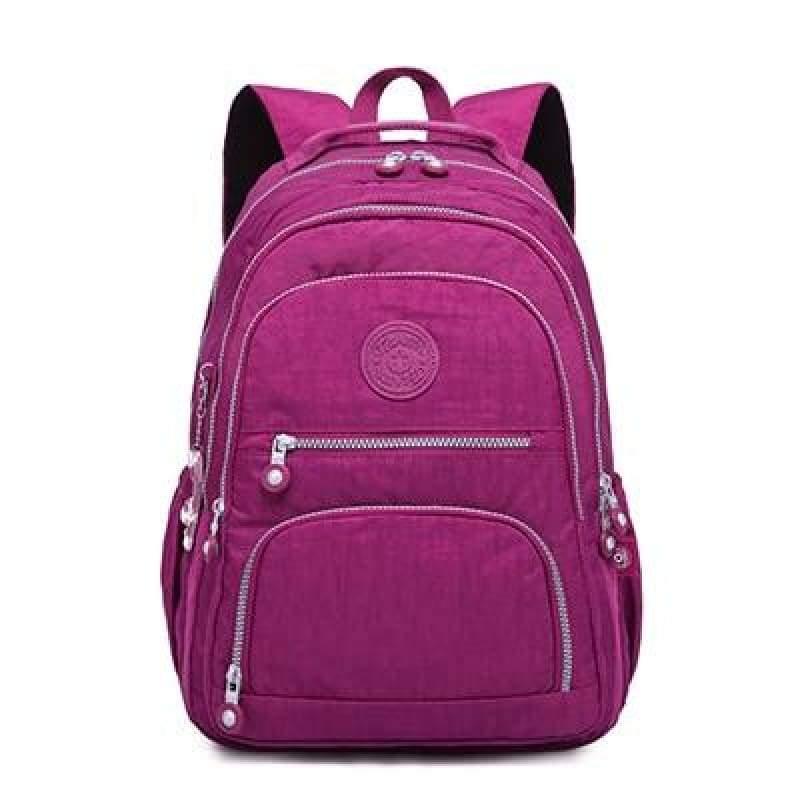 School Backpack for Teenage - purple red / 27CMX13CMX37CM 1368 - Backpacks