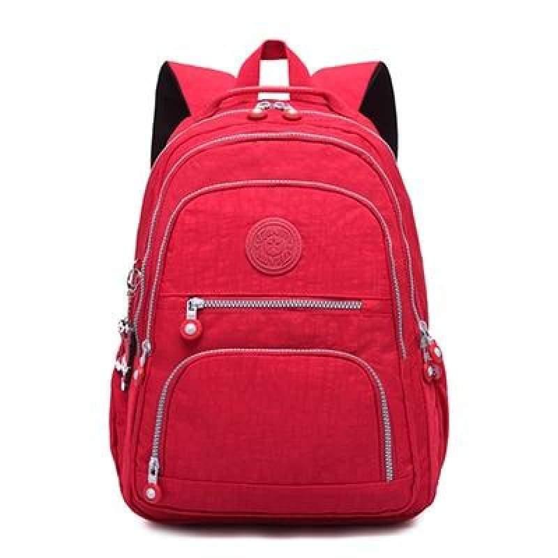 School Backpack for Teenage - red / 27CMX13CMX37CM 1368 - Backpacks