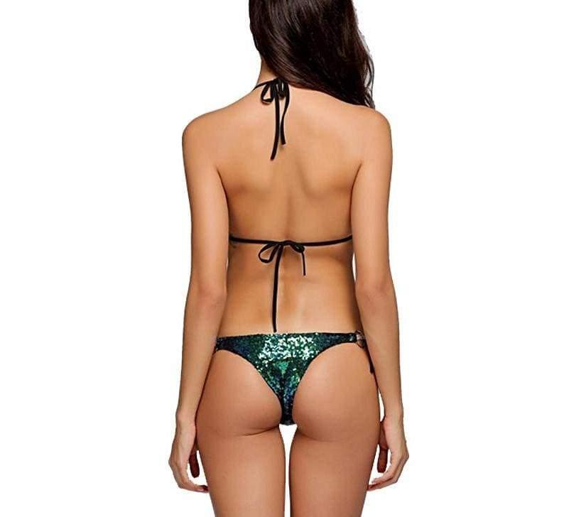 Sexy Halter Sequins Bandage Bikini !!! - Bikinis Set