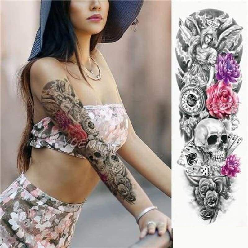 Sexy Large Arm Sleeve Tattoo - 01 - Temporary Tattoos