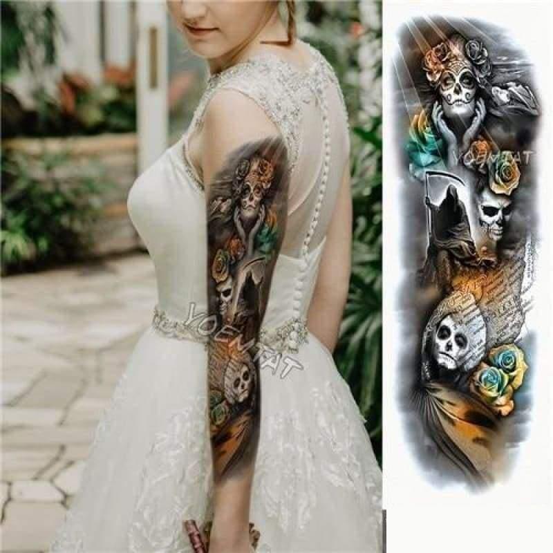 Sexy Large Arm Sleeve Tattoo - 03 - Temporary Tattoos