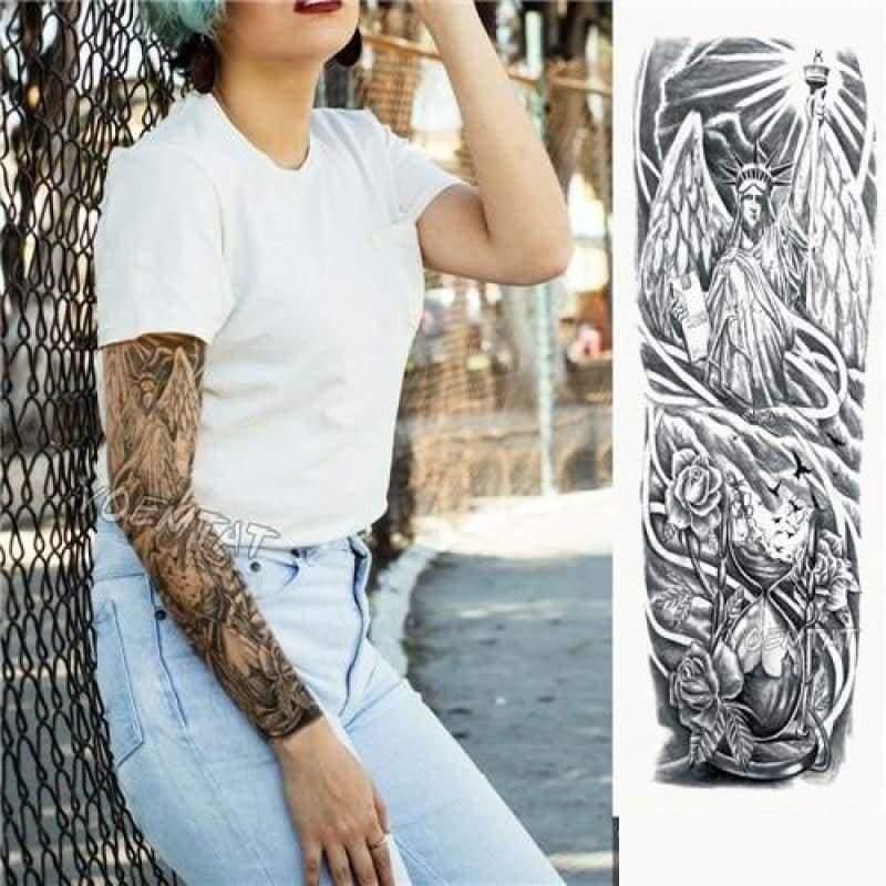 Sexy Large Arm Sleeve Tattoo - 15 - Temporary Tattoos
