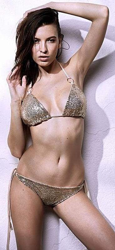 Sexy Sequins Bikini Set Halter Swimsuit - Bikinis Set