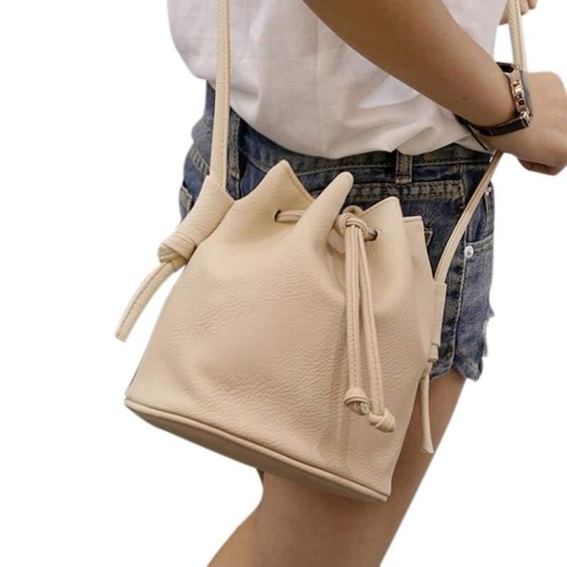 Small Womens Messenger Bag - Beige - Shoulder Bags