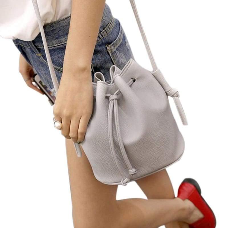 Small Womens Messenger Bag - Gray - Shoulder Bags