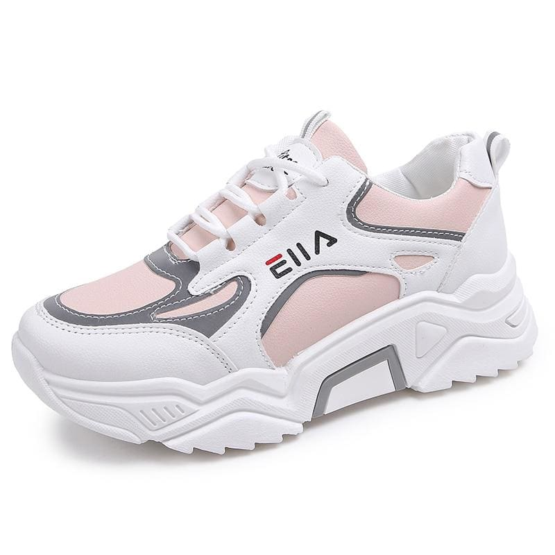 Sneakers Women Breathable Mesh Casual Shoes - Pink / 35 - Sneakers shoes