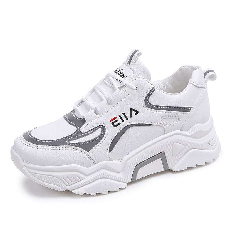 Sneakers Women Breathable Mesh Casual Shoes - White / 35 - Sneakers shoes