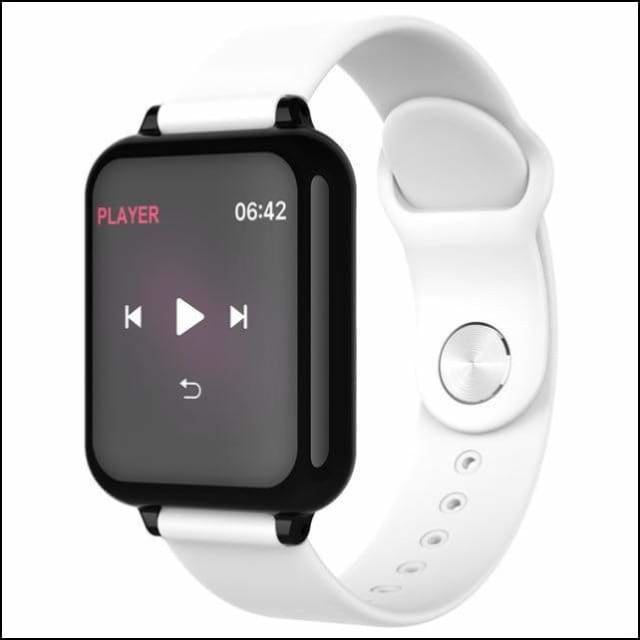 Sport Smart Watch Fitness Bracelet - B57 White Color / with box add 16GB TF