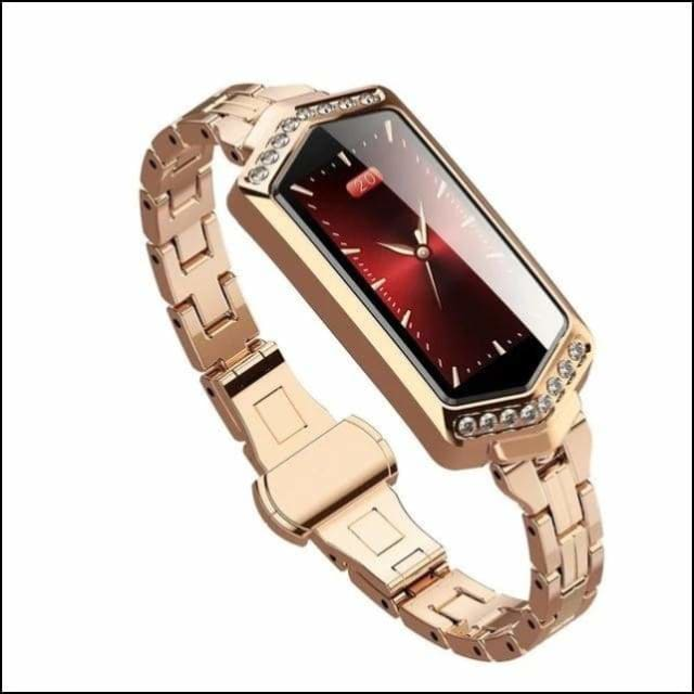 Sport Smart Watch Fitness Bracelet - B78 Gold Steel / with retail box